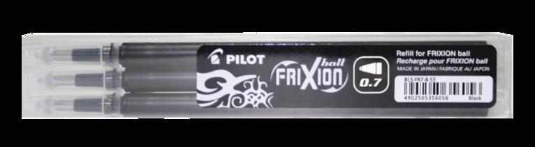 Refill Frixion Ball 0,7 3-pack svart 1
