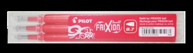 Refill Frixion Ball 0,7 3-pack röd