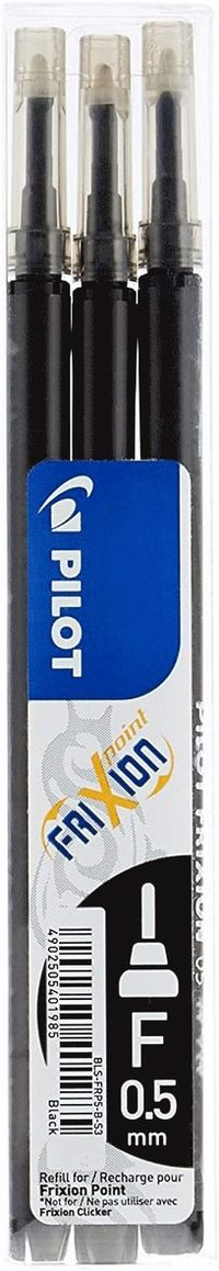 Refill Frixion Point 0,5 3-pack svart