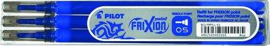 Refill Frixion Ball 0,5 3-pack blå