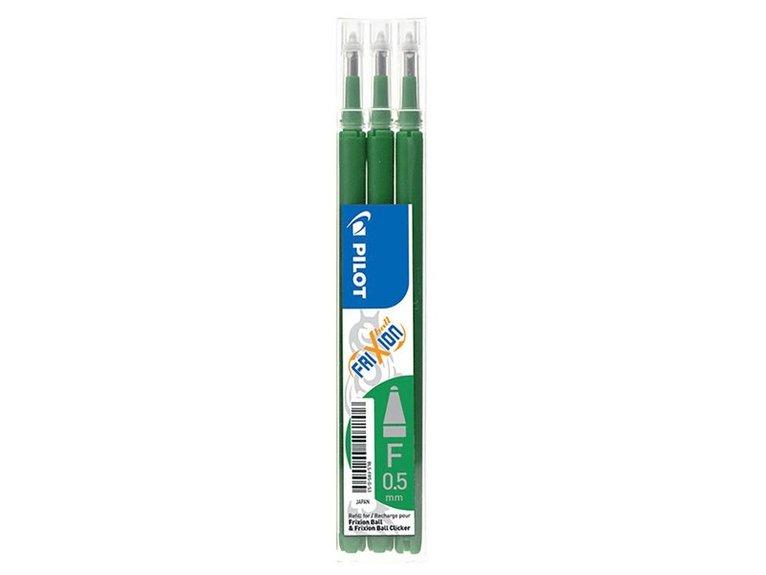Refill Frixion Ball 0,5 3-pack grön 1
