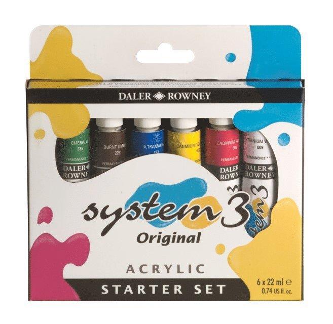 Akrylfärg System3 Starter Set 1