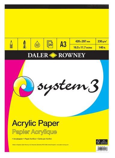 Målarblock A3 för akrylfärg