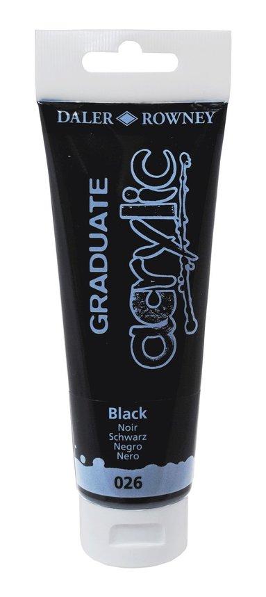 Akrylfärg Graduate 120ml svart