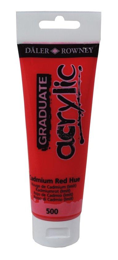 Akrylfärg Graduate 120ml kadmiumröd