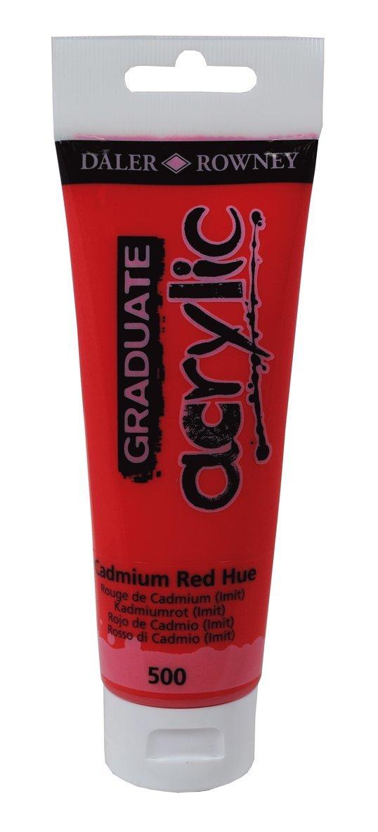 Akrylfärg Graduate 120ml kadmiumröd 1