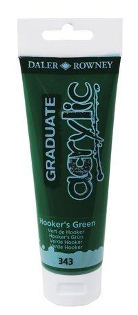Akrylfärg Graduate 120ml Hookers grön