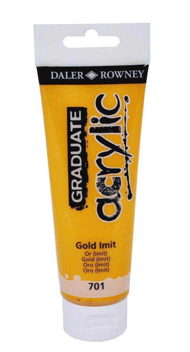 Akrylfärg Graduate 120ml guld 1