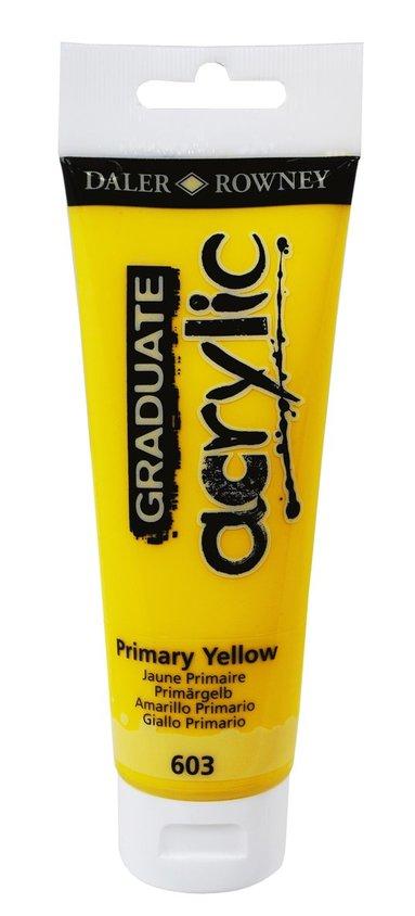 Akrylfärg Graduate 120ml gul