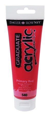 Akrylfärg Graduate 120ml röd