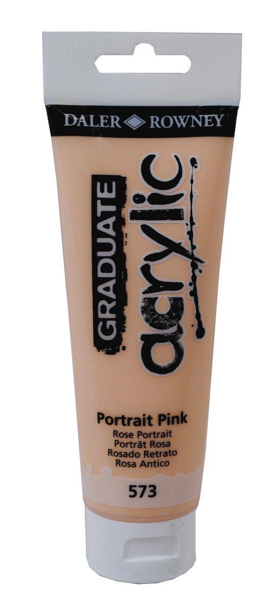 Akrylfärg Graduate 120ml rosa 1