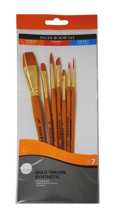 Pensel Simply Art Gold Taklon 7-pack 1