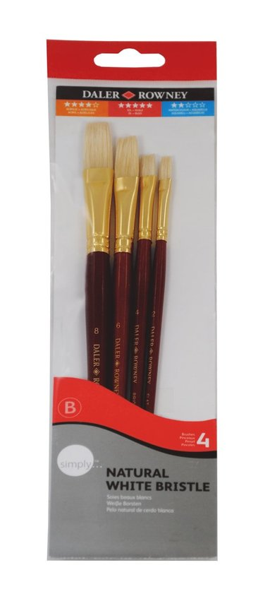 Pensel Simply Art Natural White Bristle nr1 4-pack