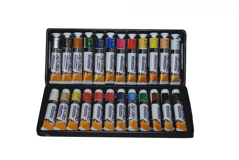Akrylfärgsset Graduate 24 färger 1