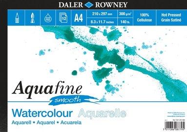 Akvarellblock A4 Aquafine Smooth 12 ark