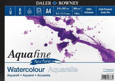 Akvarellblock A4 Aquafine Texture 300g 12blad