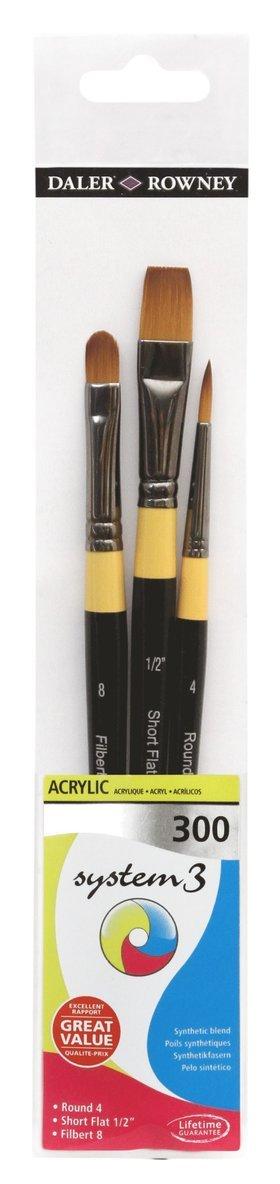 Pensel System3 3-pack