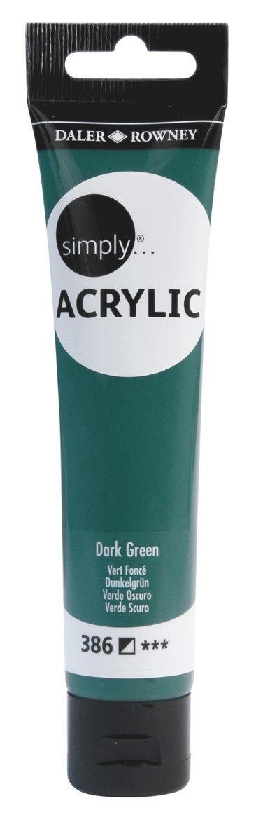 Akrylfärg 75ml Simply mörkgrön 1
