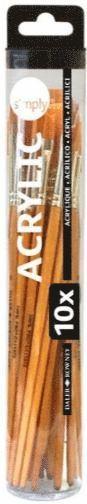 Pensel Simply för akryl 10 storlekar