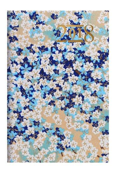 Kalender 2018 mini Vecka/Uppslag Japanese blå