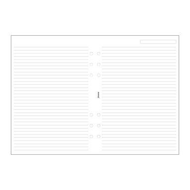 Kalenderdel Filofax A5 anteckningsblad linjerade vit