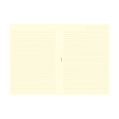Kalenderdel Filofax A5 anteckningsblad linjerad beige
