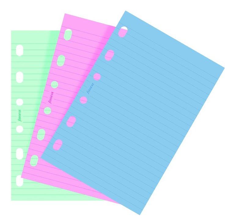 Kalenderdel Filofax Pocket anteckningsblad linjerad färg 1