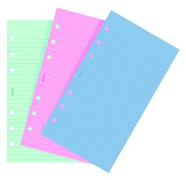 Kalenderdel Filofax Personal anteckningsblad linjerad färg