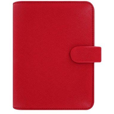 Kalenderpärm Filofax Pocket Saffiano röd 1