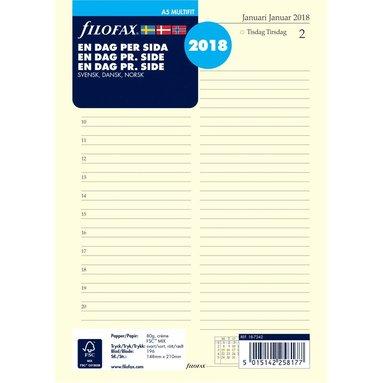 Kalendersats 2018 Filofax A5 Dagbok Dag/Sida