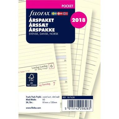 Kalendersats 2018 Filofax Pocket Årspaket Vecka/Uppslag