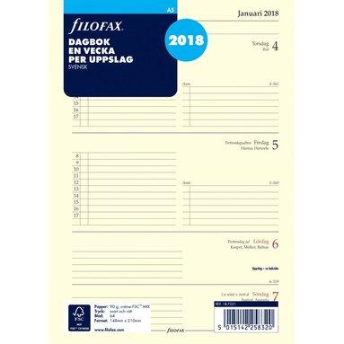 Kalendersats 2018 Filofax A5 Dagbok Vecka/Uppslag