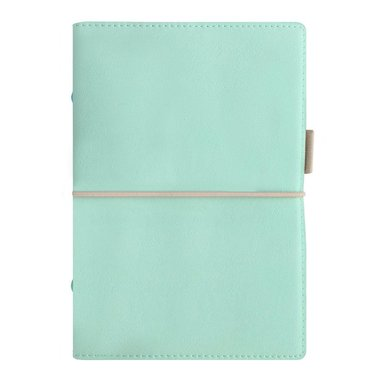 Kalenderpärm Filofax Personal Domino Soft grönblå