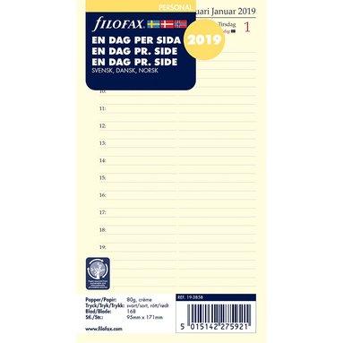 Kalendersats 2019 Filofax Personal Dagbok Dag/Sida nordisk