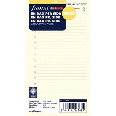 Kalendersats 2020 Filofax Personal Dagbok Dag/Sida S/D/N 1