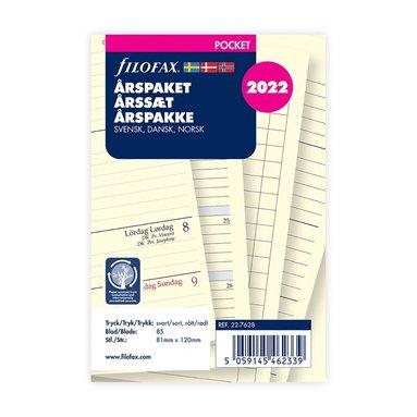 Årspaket Filofax Pocket VpU Årspaket S/D/N 1