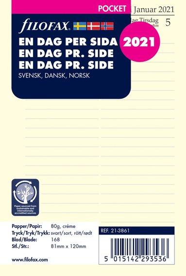 Kalendersats 2021 Filofax Pocket Dagbok DpS S/D/N