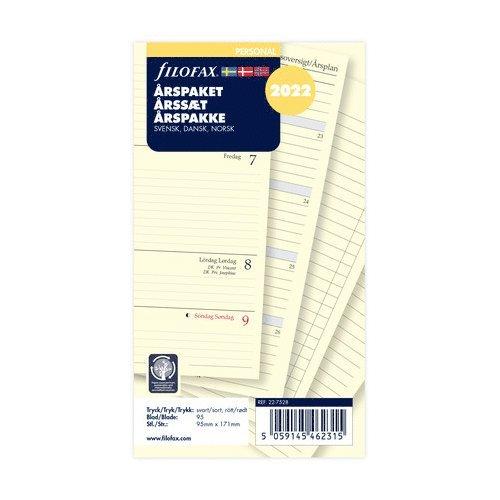 Årspaket 2021 Filofax Personal S/D/N 1
