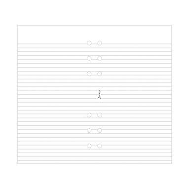Kalenderdel Filofax Personal anteckningsblad linjerade vit