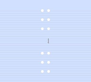 Kalenderdel Filofax Personal anteckningsblad linjerad lavendel