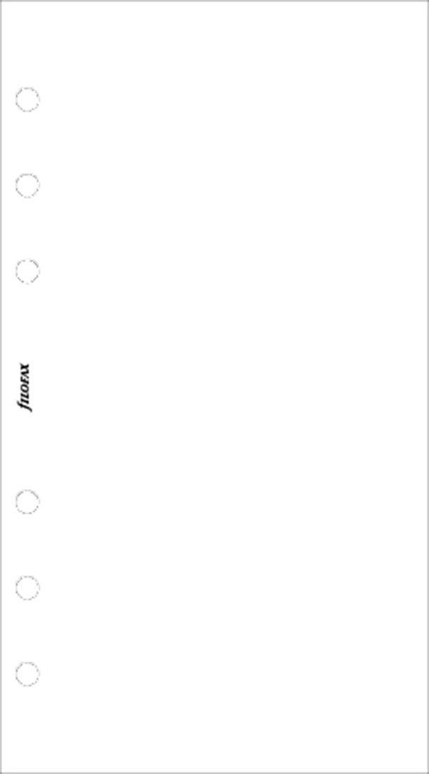 Kalenderdel Personal anteckningsblad olinjerad vit 1