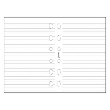 Kalenderdel Filofax Pocket anteckningsblad linjerade vit