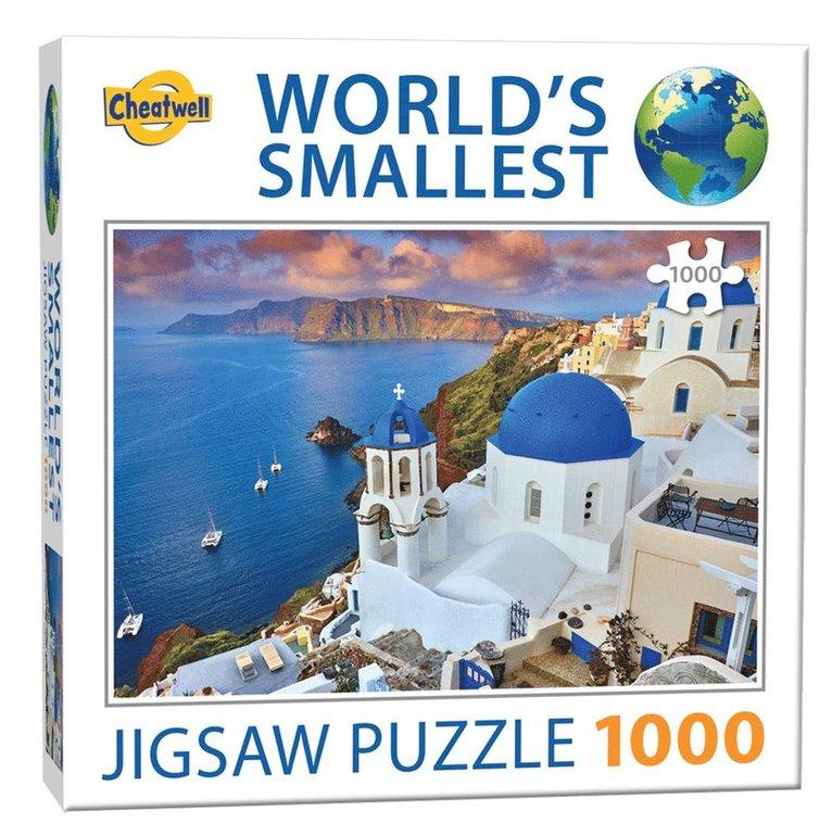 Pussel 1000 bitar World's Smallest Santorino 1