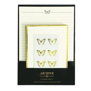 Brevpappersset Golden Butterflies 1
