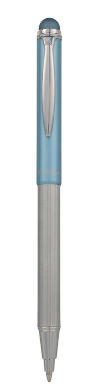 Kulspetspenna stylus teleskopisk metallic guld