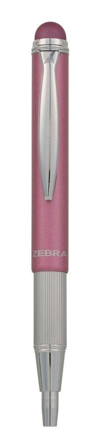 Kulspetspenna stylus teleskopisk metallic rosa