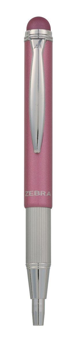 Kulspetspenna stylus teleskopisk metallic rosa 1