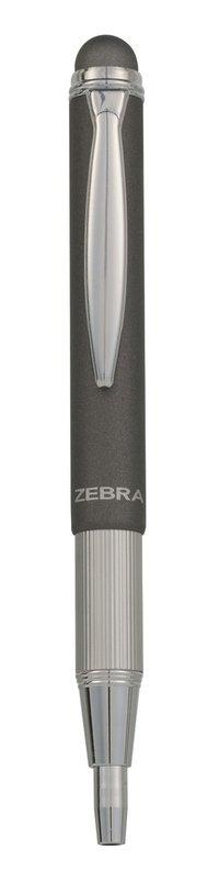 Kulspetspenna stylus teleskopisk metallic grå