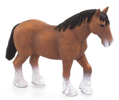 Plastfigur häst Clydesdale brun