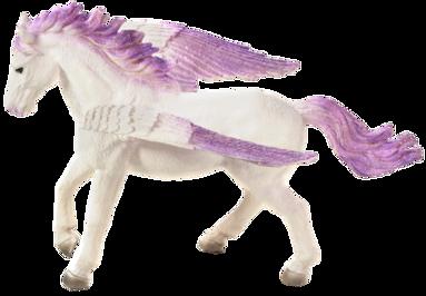Plastfigur pegasos 18,5cm lila